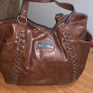 Frank Sarto Brown Leather Shoulder Bag